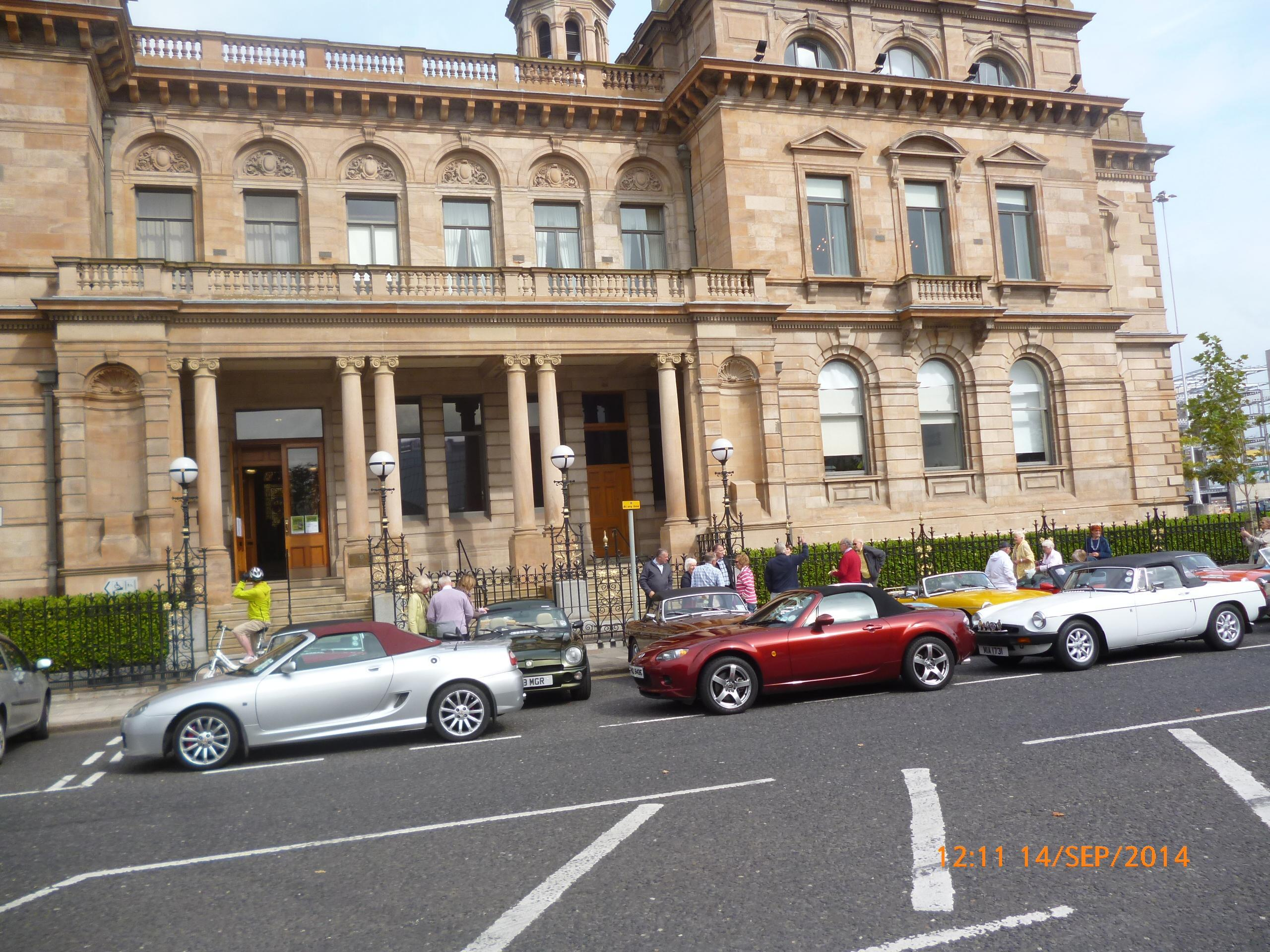 Cars parked at the Harbour Office AR